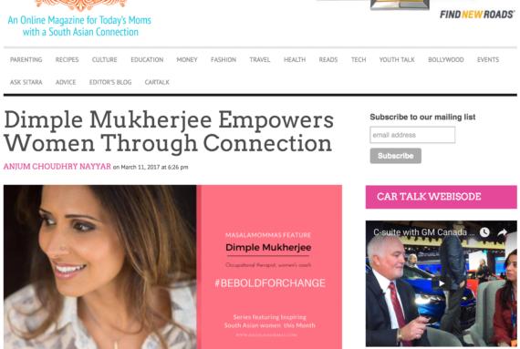 Dimple Mukherjee Empowers Women Through Connection